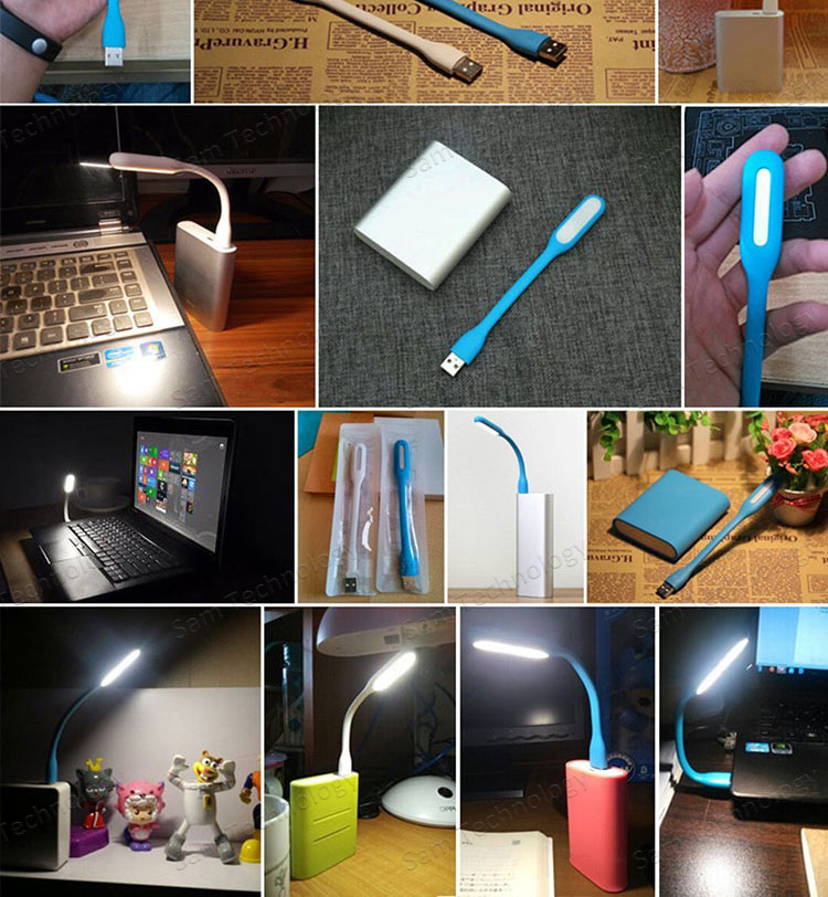 SAMTECH Mini USB LED Energy Saving Gift, Promotional Merchandise Bendable Portable USB Powered USB LED Light