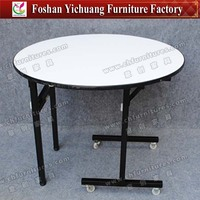 Promotion Cheap Used Round Banquet Tables for Sale Made of Plywood YC-T01-15