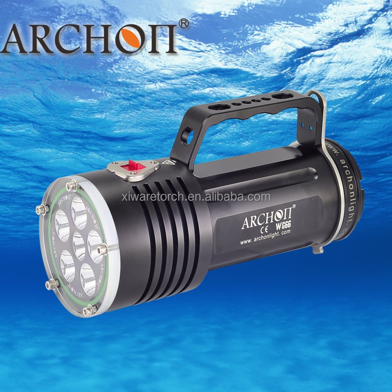 Superpower 5000 lumens Underwater Hunting Light, <strong>led</strong> diving flashlight WG66 (CE&RoHS)