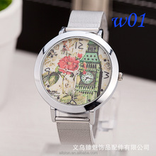 2017 new European and American hot watches ladies women's fashion network with towers bell tower lotus watches wholesale