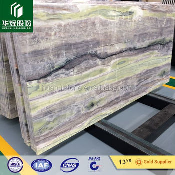 Free sample for most popular korea slab green onyx price