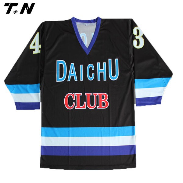 Sublimated promotional cheap custom team hockey jerseys