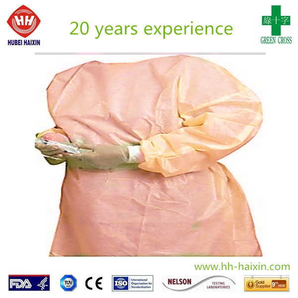 Best selling disposable isolation surgical gown pink