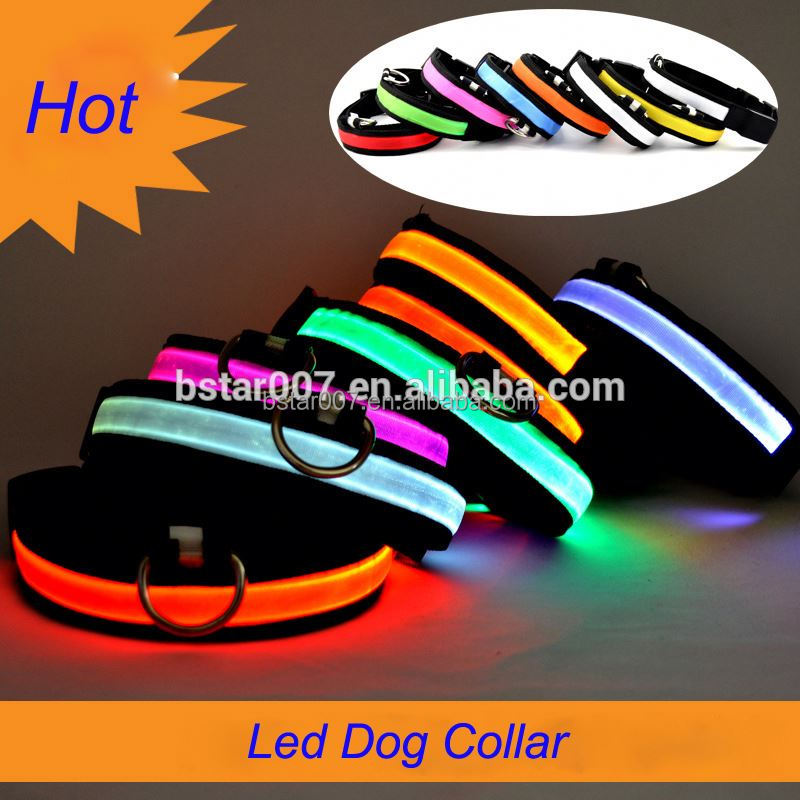 New design Colorful Adjustable best-selling pet product: led dog collar