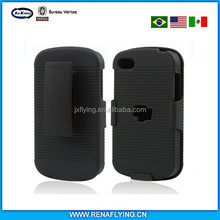 Black Holster Plastic Belt Clip Hard Case for Blackberry Q10