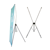 Customized Horizontal Windproof Triangle X Banner
