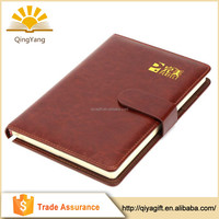 Customized Print Promotional business PU Leather recycled notebook
