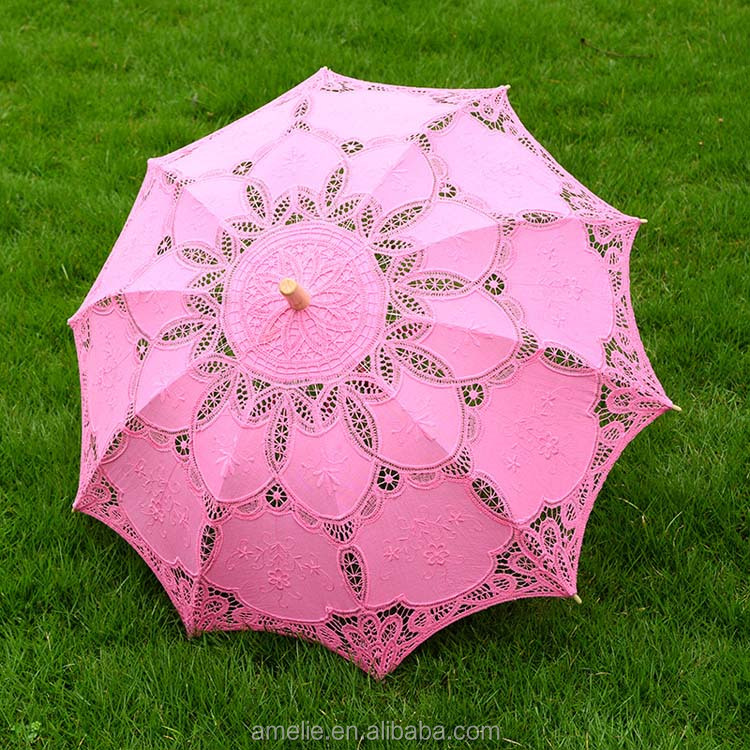 Handmade Lolita Assorted Colors Wedding Gifts Party Bridal Shower Umbrella Decoration Lace Umbrella