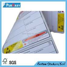 Security labels from label printing company