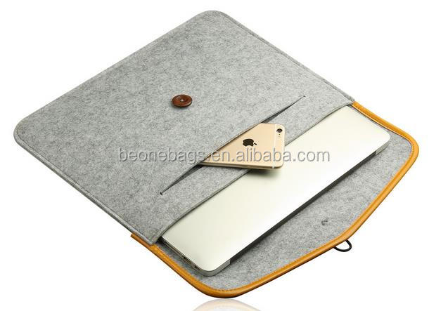 Manufacturer custom latest fashion 11/13/15 inch felt laptop sleeve