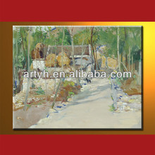 High Quality Small Village Landscape Painting For Decor