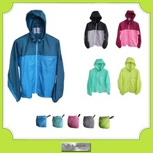 100% polyester lightweight windbreaker jacket