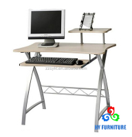 China modern office furniture design cheap wooden computer desk with keyboard panel