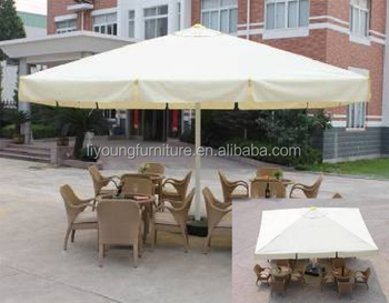 350G beach umbrella with steel tile 5MX5M Sun shade Garden coffee table outdoor umbrella