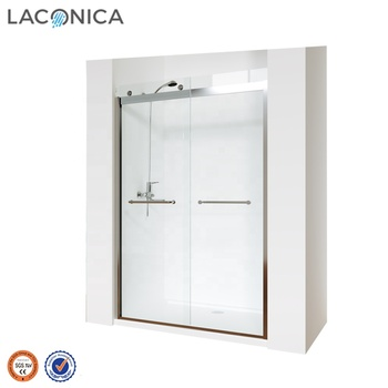 2019 Top Rated Wholesale Bypass Sliding Shower Door with 8mm Glass