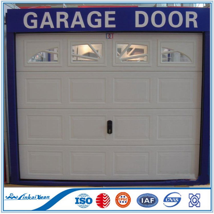 Galvanized steel material sandwich panel garage door | Garage door with window