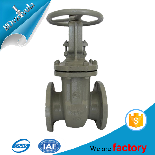Russia non rising stem 6inch water gost gate valve with price