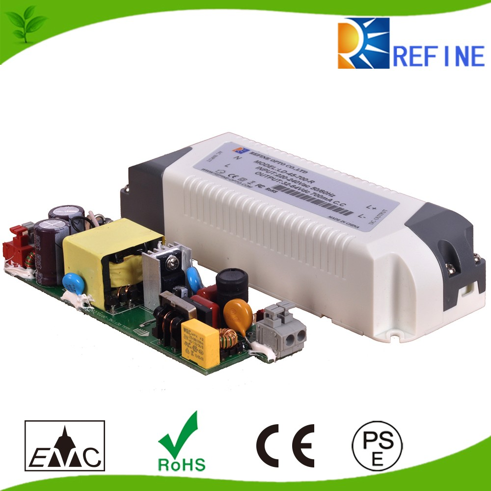 High efficiency non-flicker power waterproof led driver , 6W 12W 18W 24W 36W 350ma 700ma constant current dimmable led driver