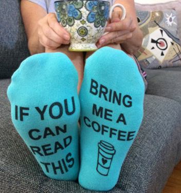 New Design Women Funny Sock Letter Print If You can read this Bring me a coffee Socks Ankle Boat Short Breathable Basic Socks