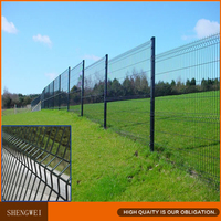 Shengwei fence - Plastic coated welded iron wire mesh fence for backyard