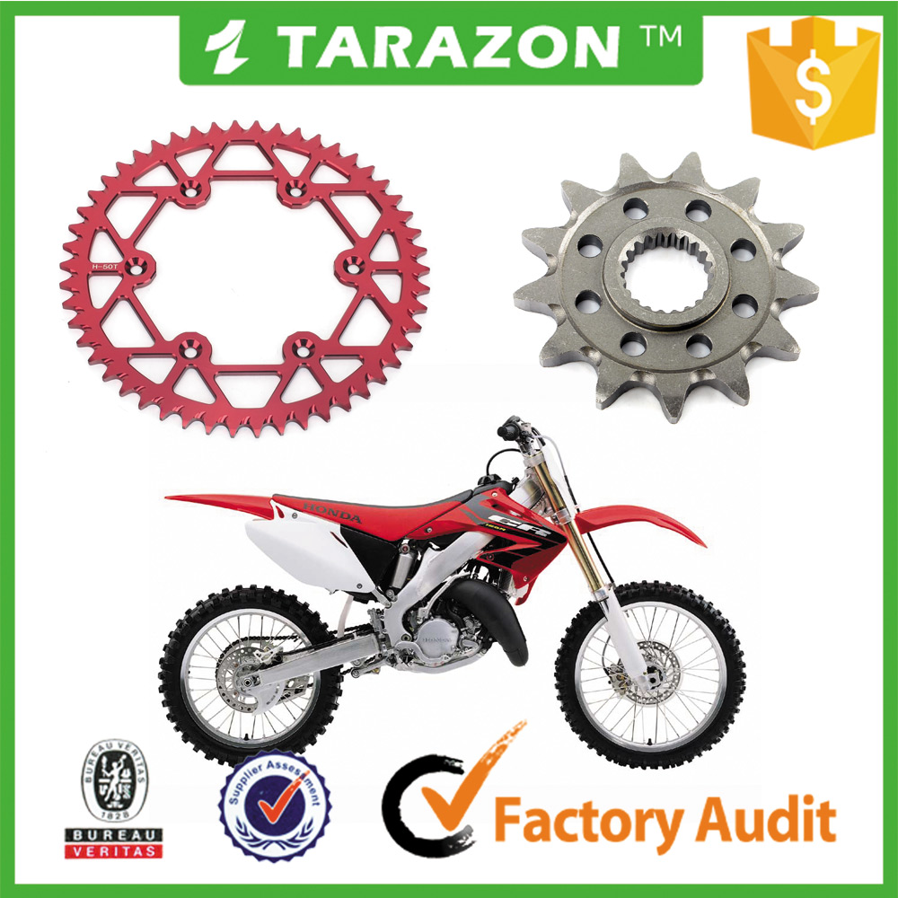 7075 aluminum 46 - 52 teeth chain and sprocket for motorcycle parts