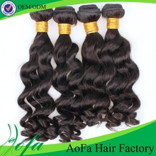 Indian human hair machine weft remy hair extensions for black women