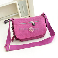High quality women waterproof nylon crossbody bag