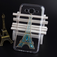 Lovely design stylish 3D Eiffel tower pattern beautiful sublimation phone cover for samsung s6 edge
