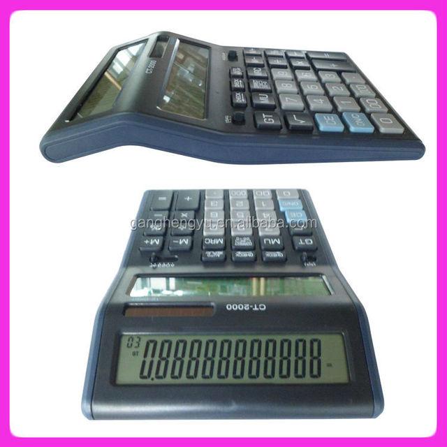 Euro converter calculator, Double screen desktop calculator