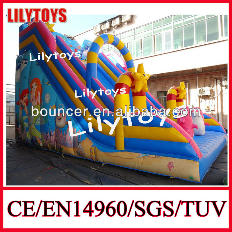 China inflatable double lane slip slide