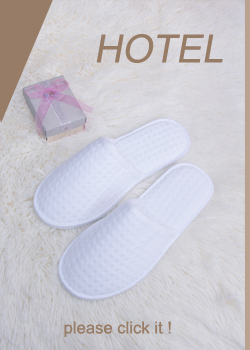 Customized logo white waffle disposable hotel slippers