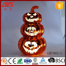 Chinese supplier LED glass golden pumpkin for halloween decoration