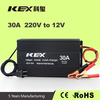 KEX-3015 Reversed connection protected function ac 220V 12V 30a 150 amp battery charger electric car battery charger