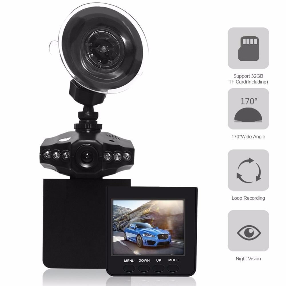 Low price H198 2.5 inch 270 degree rotate screen 6 IR LED night vision manual car camera hd dvr
