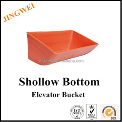 shallow plastic bucket elevator cup, plastic bucket for food packaging, shallow bucket for material handling