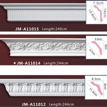 PU High Quality Good price beautiful polystyrene Custom Crown Moldings