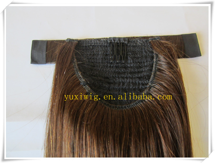 remy blonde human hair ponytail