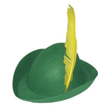 hot sale cheap green funny crazy Party carnival hat with feather