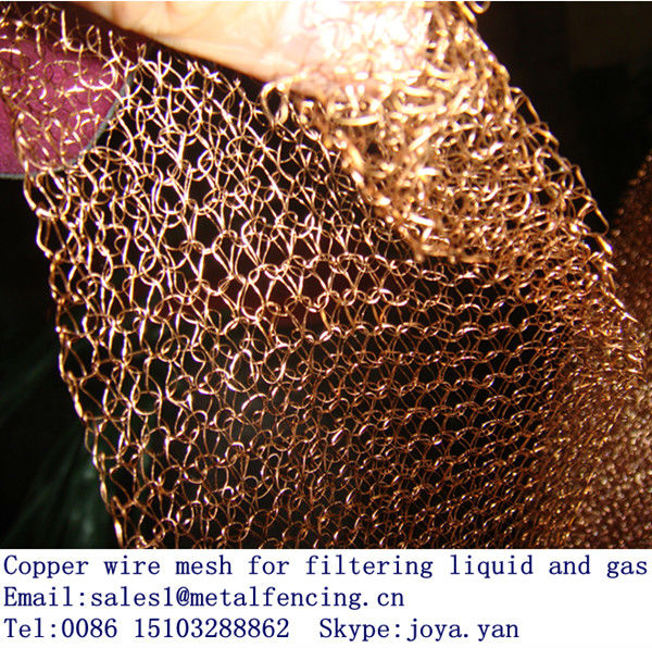 Factory supplying copper wire mesh for filtering liquid and gas