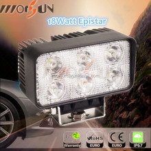 Super Bright! Square 18w led work light,12v 18W led working light auto light for offroad 4X4,4WD JEEP,TRUCK,MOTO