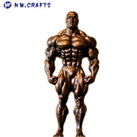 figurines muscle man sculptures bodybuilding trophy