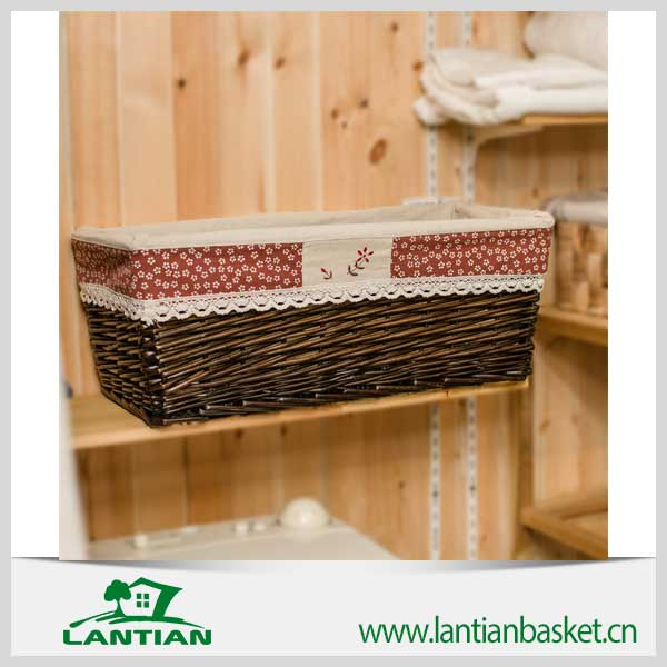 Wholesale good quality handmade wicker storage basket