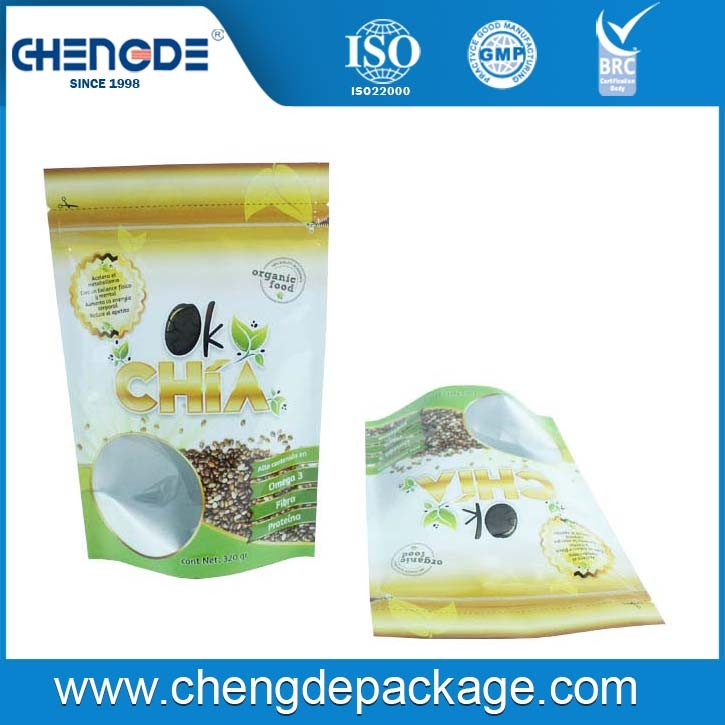 New Product Resealable plastic seeds packing bag