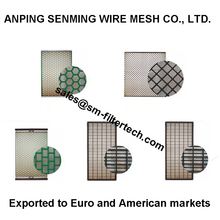 High efficiency mining vibrating shale shaker screens API100 wire screens