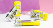 Very cheap and portable promotional swivel usb flash drive with customized logo and big data storage.