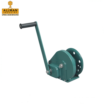 ALLMAN 2600lbs with 10m wire rope pulling manual boat anchor winch