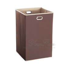 Collapsible Coffee Laundry Hamper Foldable Laundry Hamper