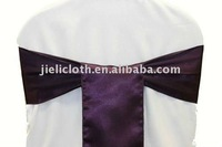 Satin tie back chair sashes