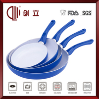 ceramic fry pan with lid CL-F147