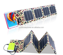 Foldable USB 5V mini solar charger 13W 4 foldings solar panel for mobiles tablets etc
